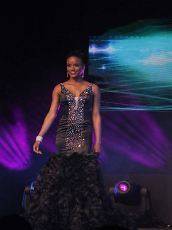 Lean T. Francis, contestant number five during evening wear segment. Photo: VINO