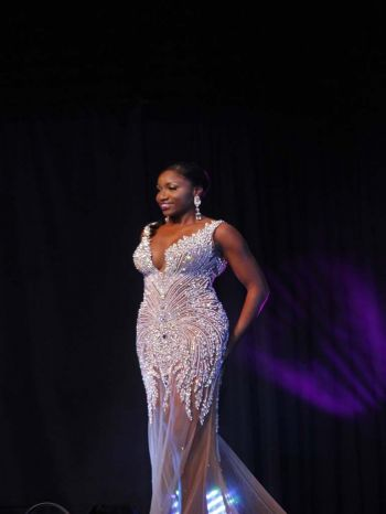 Khephra D. Sylvester, contestant number six in evening wear segment. Photo: VINO