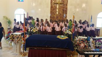 The Althea Scatliffe Primary School Striders who performed loud applauds and a standing ovation. Photo: VINO