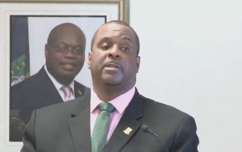 Premier and Minister of Finance, Hon Andrew A. Fahie (R1) has disclosed they territory will soon be selling a special category of visitor's Visa that can be purchased en route to the territory or at a local airport. Photo: VINO