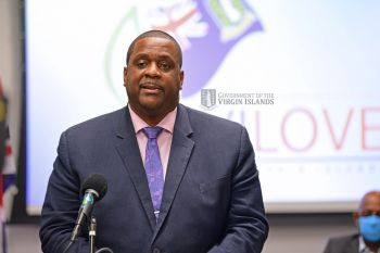 Premier and Minister of Finance Honourable Andrew A. Fahie (R1) has said the COVID-19 vaccines from the UK is expected in the Virgin Islands no later than February 15, 2021. Photo: GIS/File