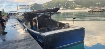 By the time Fire and Rescue Services extinguished the fire, there was already significant damages to the vessel, including a burnt engine. Photo: Team of Reporters