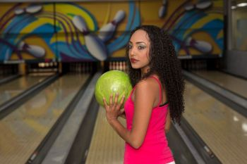 Miss World BVI 2014-2015 Rosanna K. Chichester bowling for a cure for all types of cancer. Photo: Provided