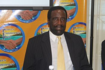 PEP's Chairman and Representative for the Second District Honourable J. Alvin Christopher said that the Governor has not taken the will of the people into consideration when making his decision. Photo: VINO/File