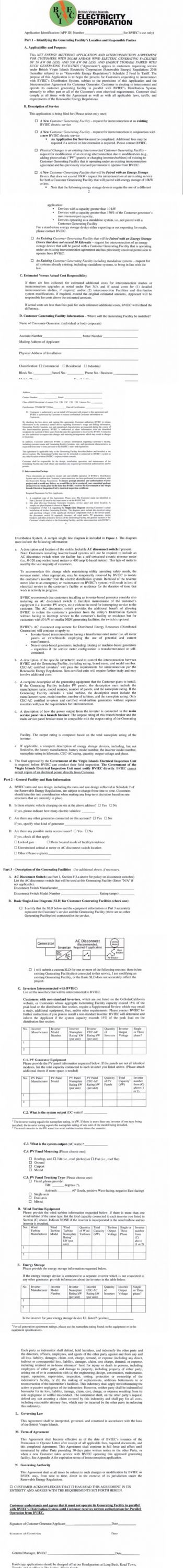 (SAMPLE) Applications can be downloaded from the BVIEC's website, bvielectricity.com or uplift a hard copy from branches located at Long Bush, Road Town or Virgin Gorda. Photo: Provided