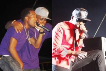 Left: Local band VIBE; Right: International Artiste Busy Signal: There was controversy and fall-out after the 2015 Festivals after overseas artistes were paid immediately after their performances last year (including upfront deposits to secure their services) while local artists were discriminated against by having to wait until some seven months later to be paid. Photo: VINO/File