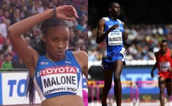 While no list has been published by the BVI Athletics Association (BVIAA), Chantel E. Malone, left, and Kyron A. McMaster, right, would be the hot contenders for Senior Female and Male Athletes of the Year respectively. Photo: VINO/Internet Source
