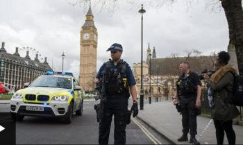 The area around the British Parliament was evacuated. Photo: BBC News