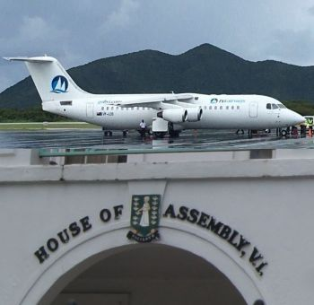 Members of the House of Assembly were debating the International Tax Authority Act 2016/17 when Hon Myron V. Walwyn moved away from the Bill at hand and in his normal rant and anger, raised the unrelated issue of BVI Airways. Photo: VINO/Internet Source