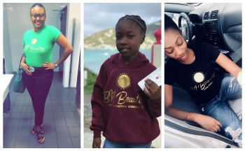 Supporters wearing a BVI Beauties t-shirt and jacket. Photo: Provided