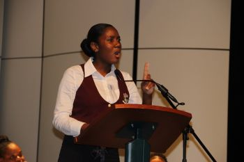 The Best Speaker was Keira St Rose of the Proposition Bregado Flax Educational Centre located on Virgin Gorda. Photo: VINO
