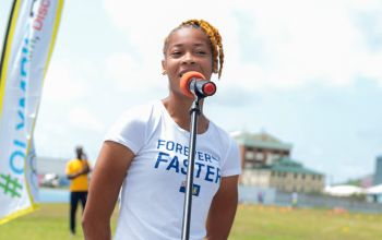 Sprinter Beyonce A. Defreitas encouraged all the young aspiring athletes to follow their dreams and to be strong in their self-belief and confidence in their abilities. Photo: BVIOC