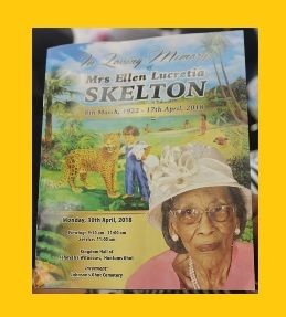 The late Ellen L. Benjamin-Skelton, a matriarch of the Skelton family passed away at the age of 96 on April 17, 2018 and was laid to rest today, April 30, 2018 at the Johnson's Ghut Cemetery. Photo: VINO