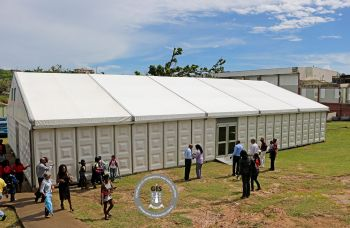 Over the past two years, the school has since been existing in unfriendly environments made of makeshift tent structures and in crammed borrowed spaces. Photo: GIS/File