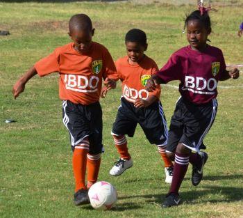 Action in the BDO Sponsored 2018 Primary School League. Photo: Provided/File