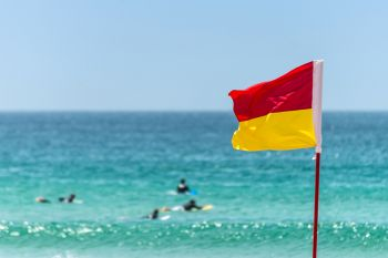 In the Virgin Islands, flags have been used rather than actual lifeguards on beaches. Photo: Internet Source/File