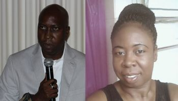 Minister for Education and Culture Hon Myron V. Walwyn (left) continues to be lambasted for prematurely implementing the 12th Grade Programme into public schools. Right: Principal of Bregado Flax, Ms Glenda I. A. Stevens. Photo: VINO/Facebook