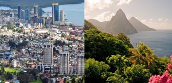 Trinidad and Tobago (left) and St Lucia (right) are two of the Caribbean countries blacklisted by the European Union (EU). Photo: VINO