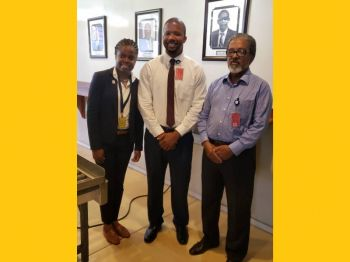 Present to officially declare the facility open were Junior Minister for Tourism, Honourable Sharie B. deCastro (AL) along with the Acting Managing Director of the British Virgin Islands Airport Authority (BVIAA), Mr Clive Smith and Mr Keith Flax. Photo: VINO