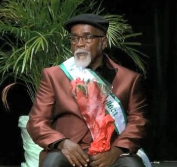 Mr Daniel Blyden, 66, copped the prizes for Mr Intellect, Best Cultural Wear and Best Evening Wear. Photo: Team of Reporters