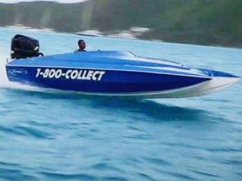 Reports indicated that after 6:30pm on September 1, 2013, a 21-foot speed boat entitled '1-800-Collect' was heading out of White Bay with the captain and passenger onboard when, for reasons unknown, both occupants were ejected from the vessel. Photo: Facebook