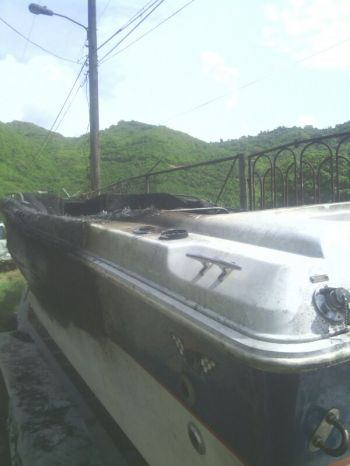The damaged boat. Photo: Team of Reporters