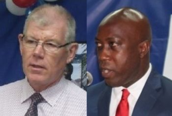 Immediate Past Governor of the Virgin Islands, William B. McCleary (left) had transferred responsibilities for parole from the Ministry of Education and Culture headed by Hon Myron V. Walwyn to the Ministry of Health and Social Development. Photo: VINO/File