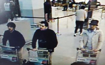 The two men on the left are believed to have blown themselves up while the man on the right is being sought by police. Photo: BBC News