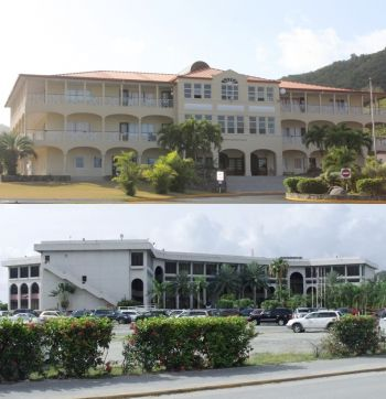 The Virgin Islands Party (VIP) and the late Mr H. Lavity Stoutt are credited with a number of developments in the territory, including the Central Administration Complex (below) and spearheading the development of the local community college (above), which is named in Mr Stoutt's honour. Photo: VINO/File