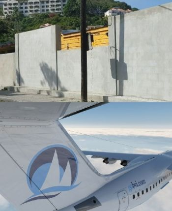The National Democratic Party (NDP) Government has been accused of financial mismanagement, including on the controversial wall around the Elmore Stoutt High School and on the BVI Airways deal, which seems to have gone sour. Photo: VINO/gobvi.com