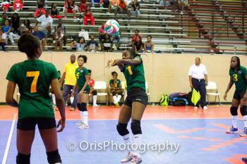 BVI's Shanique Robinson mustered 4 points to lead all scorers on her side. Photo: Provided