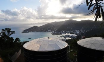 In picture, BiWater storage tanks on Tortola. Photo: Internet Source