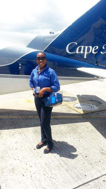 Our Young Professional began her stint working for Cape Air as a Customer Service Agent based at the Taddy Bay Airport on Virgin Gorda in February of this year. She has also worked at the Baraka Point Resort in Virgin Gorda, where she thought she would be able to gain valuable experience. Photo: Provided