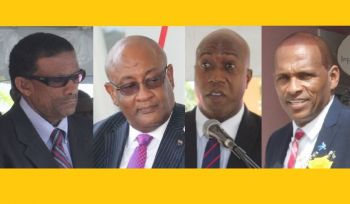 Governor J. U. Jaspert is the youngest Governor of the Virgin Islands, at age, 38 and will be the youngest member of Cabinet. From left: Minister for Natural Resources and Labour Dr The Hon Kedrick D. Pickering (R7), Minister for Health and Social Development Hon Ronnie W. Skelton (AL), Minister for Education and Culture Hon Myron V. Walwyn (AL) and Minister for Communications and Works Hon Mark H. Vanterpool (R4). Photo: VINO/File