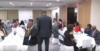 Mr Wheatley underscored the importance of the VI's financial independence at a Dinner Event to mark the 40th Anniversary of the end of 'Grant-In-Aid' on December 15, 2018. Photo: YouTube