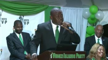 It was another Virgin Islands Party (VIP) launch this time it was for Carnel D. Clyne who will take on the Progressive Virgin Islands Movement aka 'NDP 2' Hon Melvin M. Turnbull (R2). Photo: Team of Reporters