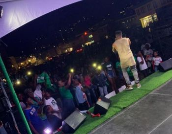The Virgin Island Party's (VIP) youth rally was revitalised with music and energy last evening, February 15, 2019, to packed crowds in the Waterfront Drive area of Road Town on the main island of Tortola. Photo: Team of Reporters