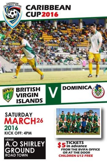 Following their Group 7 game against Martinique today March 22, 2016, the VI team will return home to face a second group game against Dominica on Saturday March 26, on the AO Shirley Recreation Ground at 4pm. Photo: Provided
