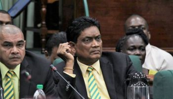 Government Parliamentarian, Mr Charandass Persaud voted with the main Opposition, Peoples Progressive Party/Civic in the Parliament of Guyana to win a no-confidence motion 33-32, which was pushed forward by the Opposition in the 65-seat National Assembly. Photo: Internet Source