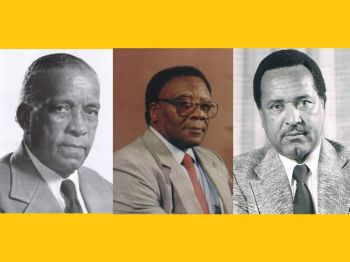 Chief Ministers Dr. Willard Wheatley, MBE, H. Lavity Stoutt, and Cyril B. Romney. Photo: GIS/File/Internet Source