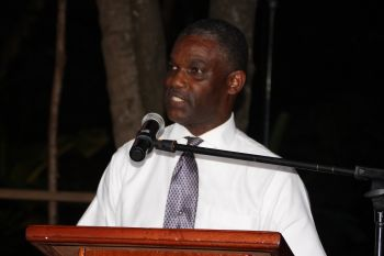 Junior Minister for Tourism Hon Archibald C. Christian is impressed that the BVI Food Fete has expanded to the four (4) major islands and two smaller private islands in the Virgin Islands. Photo: VINO