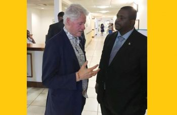 Premier of the Virgin Islands Hon Andrew A. Fahie (R1), right, seen here in conversation with the 42nd President of the United States of America William Jefferson Clinton aka 'Bill', has been invited to speak at the 4th Meeting of the Clinton Global Initiative (CGI) Action Network on Post-Disaster Recovery on St Thomas, US Virgin Islands (USVI). Photo: Team of Reporters