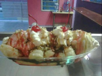 One of Coleen's creations made at the Cocolicious Ice Cream Parlor that is located along the Blackburn Highway in East End. Photo: supplied