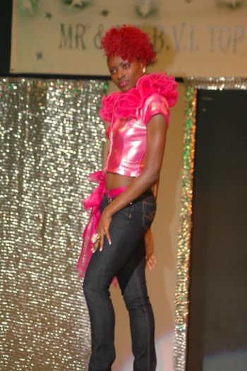 Lavanta strikes a pose during the Mr & Ms BVI Top Model Competition. Photo: supplied