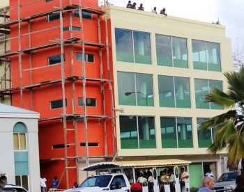 A view of the Cutlass building from Waterfront Drive in Road Town. Photo:VINO