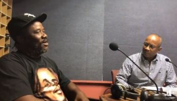Prominent Jost van Dyke resident and businessman, Gregory A. Callwood, left, on Honestly Speaking with Claude O. Skelton-Cline, right, on the February 6, 2018 edition of the show. Photo: Facebook