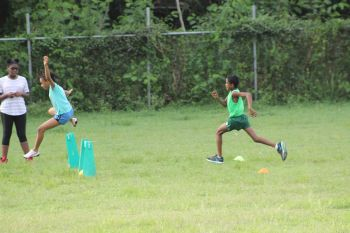 Children get competitive at the Kids Athletics Camp. Photo: VINO