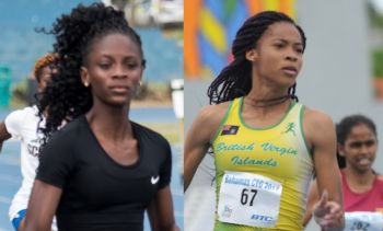 Akrisa Eristee, left, and Beyonce A. Defreitas, right, both of Sprint Tech Track Club, met the qualifying standards for the 2018 Carifta Games. Photo: BVIAA