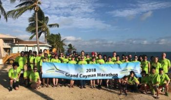 Mr Henschel George from Roadtown Wholesale Trading, was among the 29 North West employees and community members from store locations to challenge themselves with the Grand Cayman Marathon a 26.2 mile run in support of the Company's Healthy Horizons Foundation. Photo: Provided