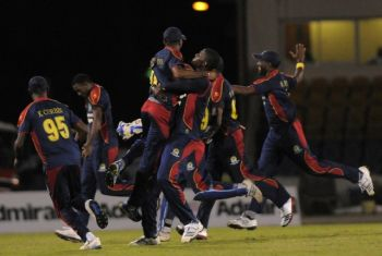 A determined CCC team handed Barbados another embarrasing defeat to secure their first win of the 2013 T20. Photo: Supplied